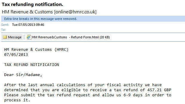 Hmrc targeted by scam emails - Hm revenue and customs office address ...