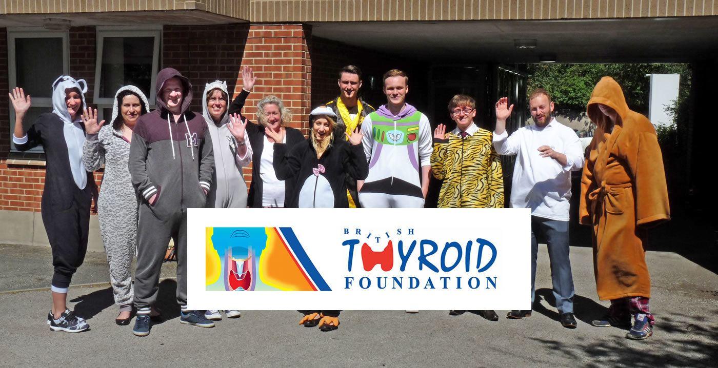 Sibbalds Onesie PJ Day for the British Thyroid Foundation